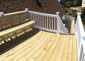 Outer Banks Beach Box renovation of outside deck