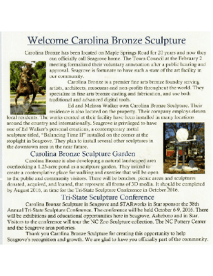 Seagrove Newsletter