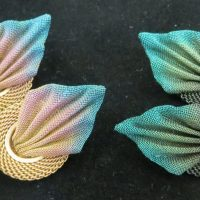Sarah Cavender Clip Ear Pleated Leaf