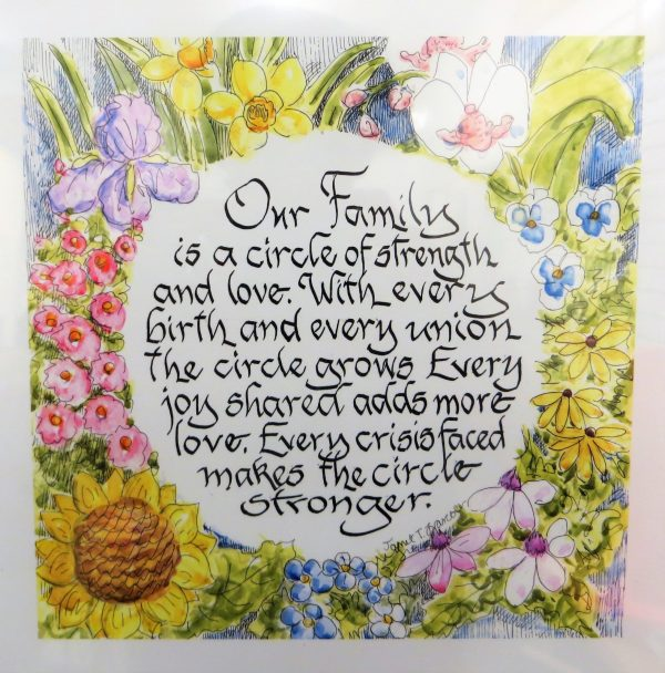 Jan Francoeur Family Circle Metal Frame