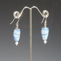 Blue Bus Studio Earring With Pearl