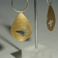 Ear Teardrop Brass