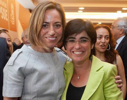 Carme Chacón y Carolina Darias