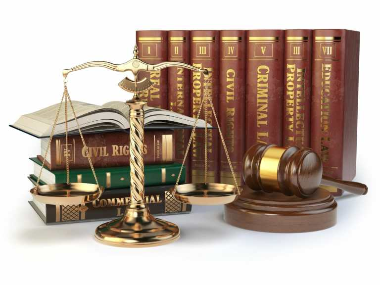 law books gavel scales