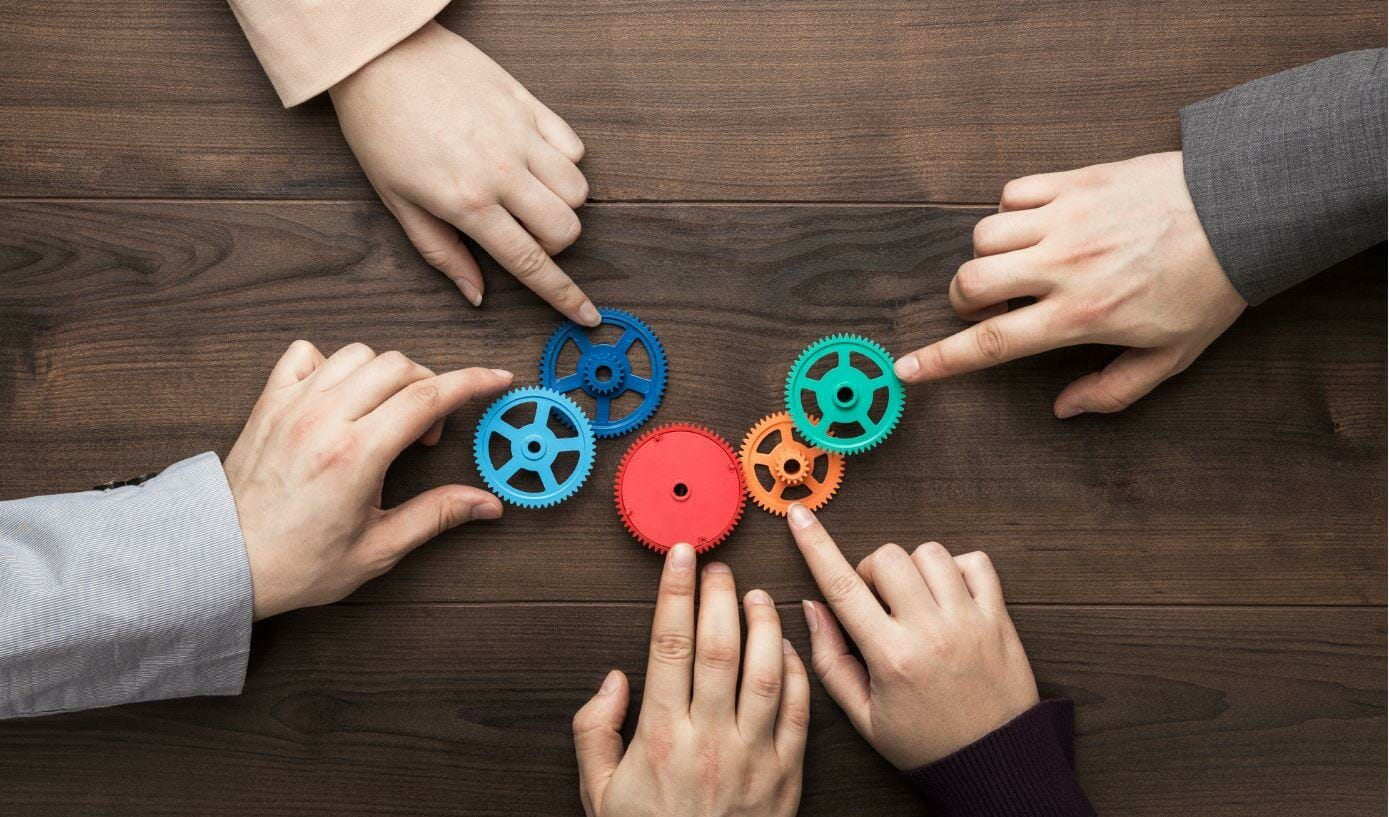 teamwork with cogs