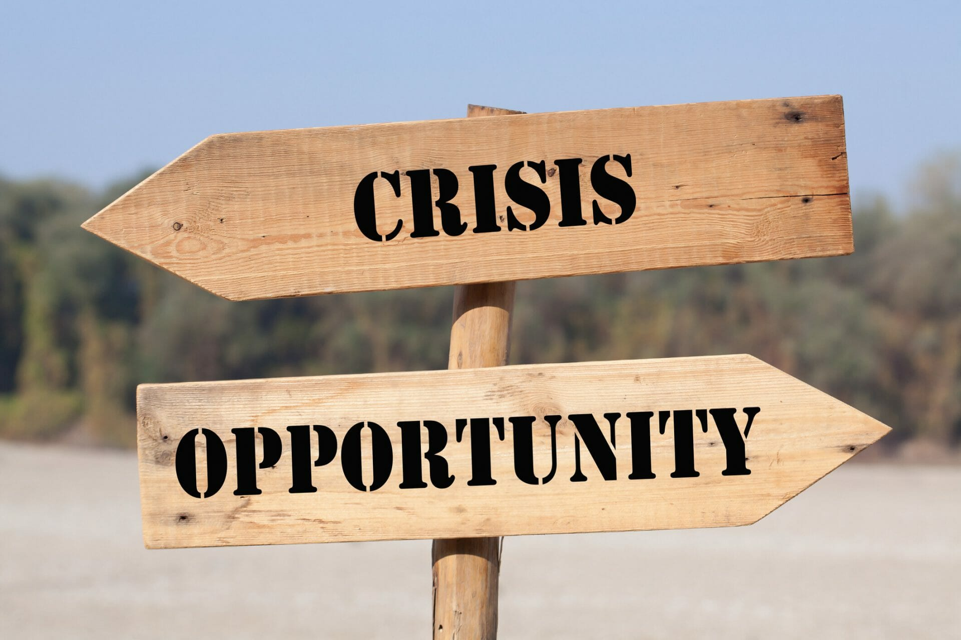 crisis and opportunity sign