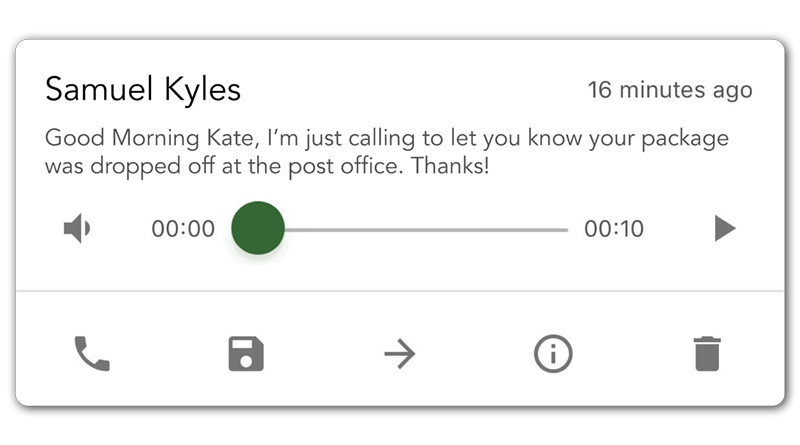 business phone app voicemail