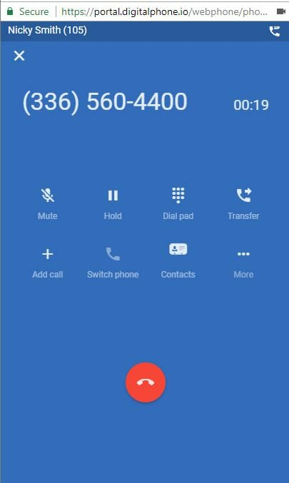webphone call