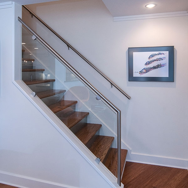 Glass Railing Raleigh Nc Glass Staircase Custom Glass | Stairs With Glass Sides
