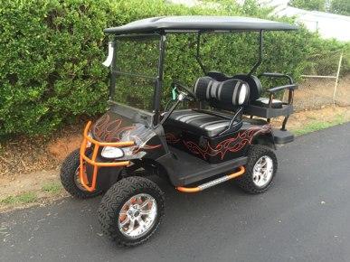 Burnt Orange Tribal Flame EZ-GO RXV 48V