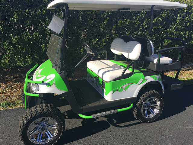 Tribal Green & White Lifted EZ-GO RXV