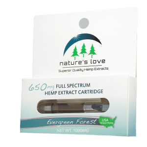 All natural hemp oil extract vape from Nature's Love