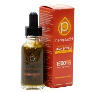 Hemplucid Vape/Drip Hemp Extract with 500mg Cannabinoids