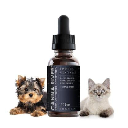 Small pet CBD tincture with Broad Spectrum cannabinoids for dogs and cats