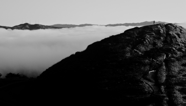 Twin Peaks Fog. San Francisco.