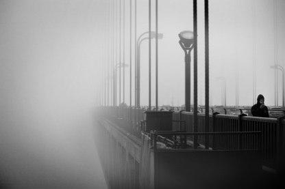 Golden Gate in the fog. San Francisco.