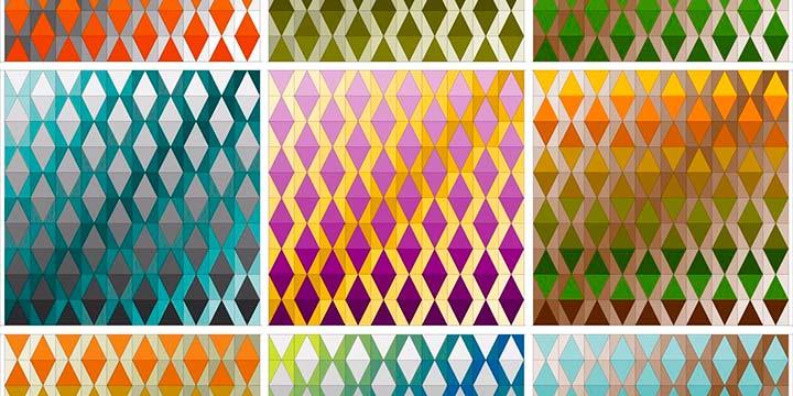 variación color patron sky with diamonds