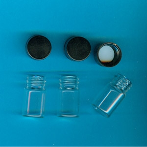 Vial - 1/2 OZ. Glass W/Lid (Bag of 10)