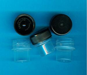 1 Oz Plastic Vial W/Lid (Bag of 10)