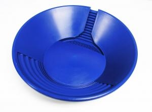 "14"" Trinity Bowl Gold Pan - Blue"