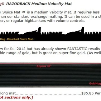 Razorback ™ Medium Velocity Mat - The Gold Hog
