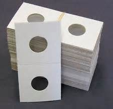 Quarter Size 100 Count  - 2 X 2 - Cardboard Mylar Coin Holders