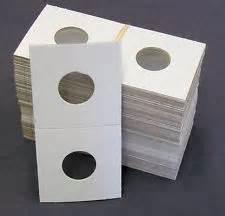 Nickel Size 100 Count  - 2 X 2 - Cardboard Mylar Coin Holders