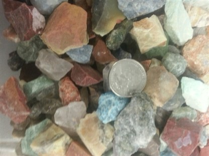 ASSORTED MIX ROUGH GEMS AND MINERALS - 1 Pound