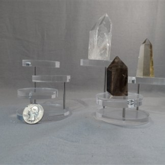 Crystal Plastic Tri-Level Display