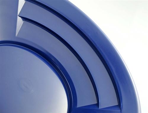"10"" Gold Pan, Dual Riffles - Blue"