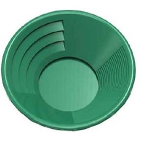 "10"" Gold Pan, Dual Riffles - Green"