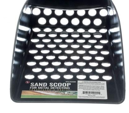 "8.1/2"" Black Hand Held Plastic Sand Scoop"