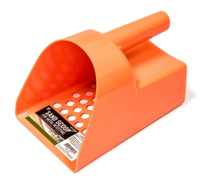 "8.1/2"" Orange Hand Held Plastic Sand Scoop"