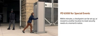 "PD 6500i™ Enhanced Pinpoint Walk-Through Metal Detector - 32.5"" ADA-Compliant Passageway Version - BEIGE"
