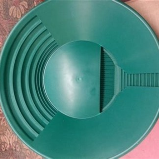 "11"" Trinity Bowl Gold Pan - Green"