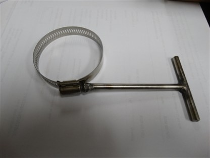 "Stainless Steel T-Handle 2"" Hose Clamp"