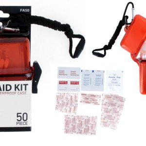 50Pc First Aid Kit Stored in a Waterproof Case