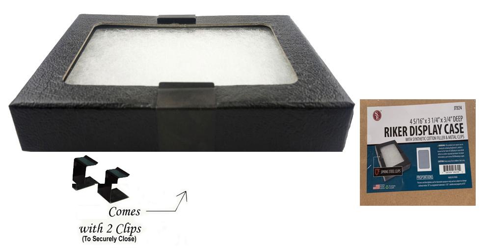 "Glass Top Display Box 4-5/16"" x 3-1/4""x 3/4"""