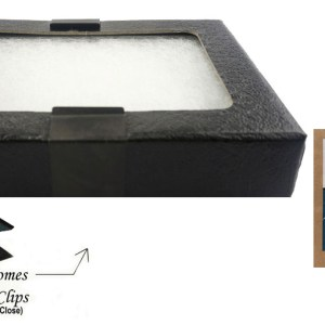 "Glass Top Display Box 4-5/16"" x 3-1/4""x 3/4"""