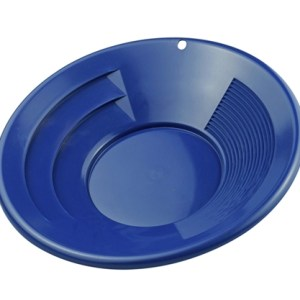 "8"" Gold Pan, Dual Riffles - Blue"