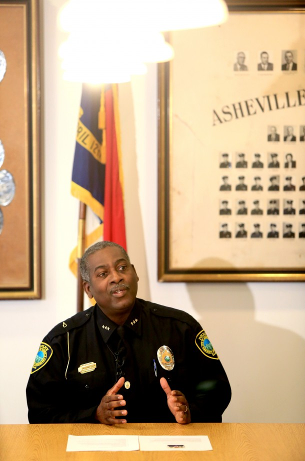 Asheville Police Department Chief William Anderson. File photo by Colby Rabon/Carolina Public Press.