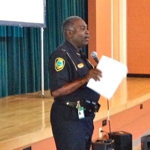 Chief Anderson at use of force forum square