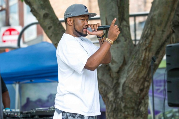 Herman Bright, a DJ with Midweek Fix, was one of the organizers of the event. Alicia Funderburk/Carolina Public Press