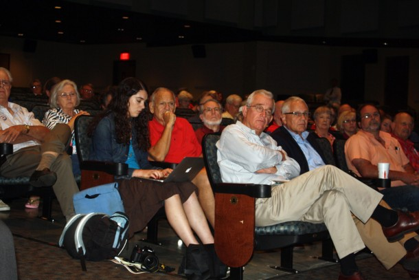 Nearly 250 people attend the forum on Tuesday, which was hosted by Sen. Jim Davis, a proponent of fracking in North Carolina. Gwen Albers/Carolina Public PRess