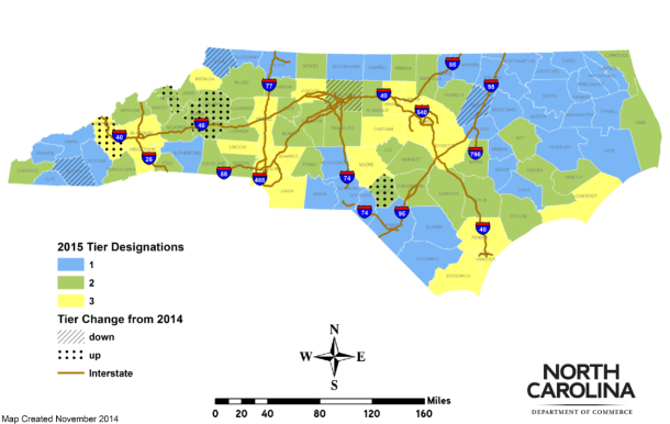 Map via the N.C. Department of Commerce