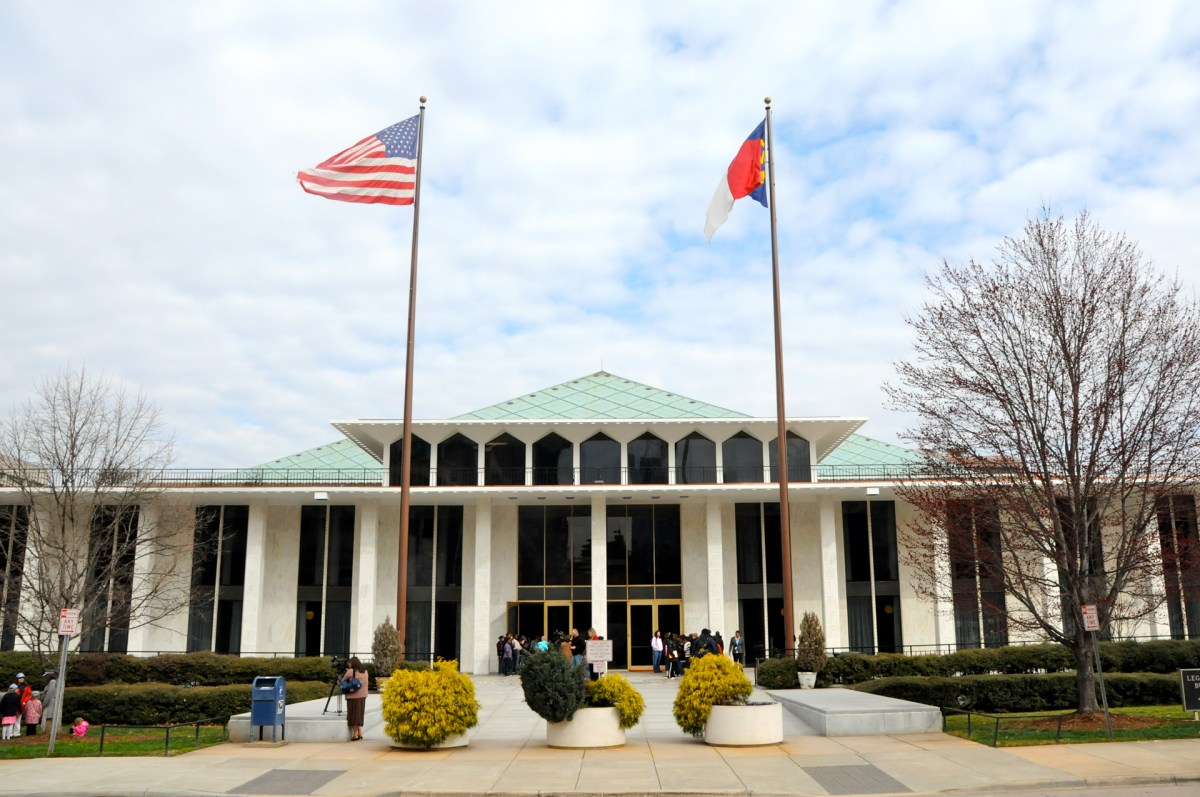 North Carolina General Assembly building in Raleigh.