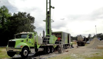 Test drilling at the state Department of Transportation maintenance yard in Hoke County in 2015.