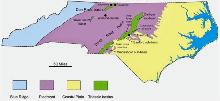 Triassic basins in North Carolina