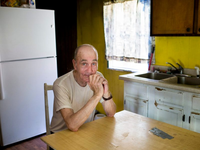 Paul Crisp of Whittier in his kitchen