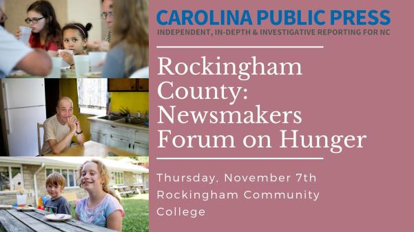 Rockingham County Newsmakers forum on hunger and food insecurity